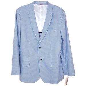 Izod Gingham Sports Coat 🧥 Large NICE! 💎